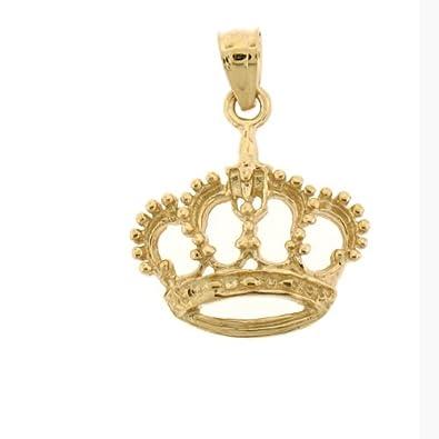 Amazon 14k Yellow Gold Crown Pendant Jewelry