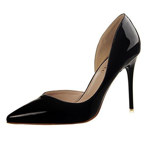 D'Orsay Women's HooH Sexy Black Dress Stiletto Pumps Pointed Toe wIq7Cxq6