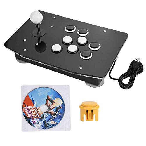 Akozon Arcade Stick, Zero Delay Joystick USB Interface Game Metal Handle Arcade Game Controller for Arcade Stick PC Games Mame Raspberry PI