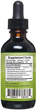 Prostate Edge – Prostate Supplement for Men with Pygeum Africanum, Saw Palmetto Plus More – 2 oz Liquid Drops