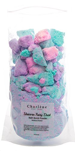 Unicorn Bath Bomb Fizzy Powder - Unique Gift for Any Unicorn Or Rainbow Lover. Perfect As Birthday Gifts, scented In rainbow Sherbet - 16 Ounce