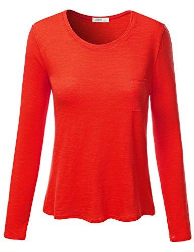 16c6121878573 J.TOMSON Womens Plain Basic Cotton Spandex Long Sleeve T-Shirt - Buy Online  in UAE.