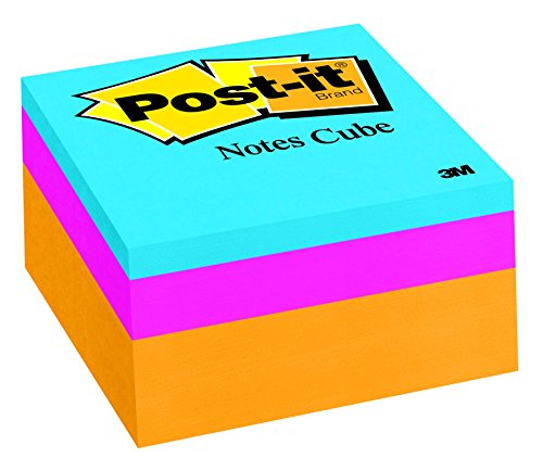 Post-it Notes Cube, 3 in x 3 in, Orange Wave, 400 Sheets/Cube (2053-ELT-O)