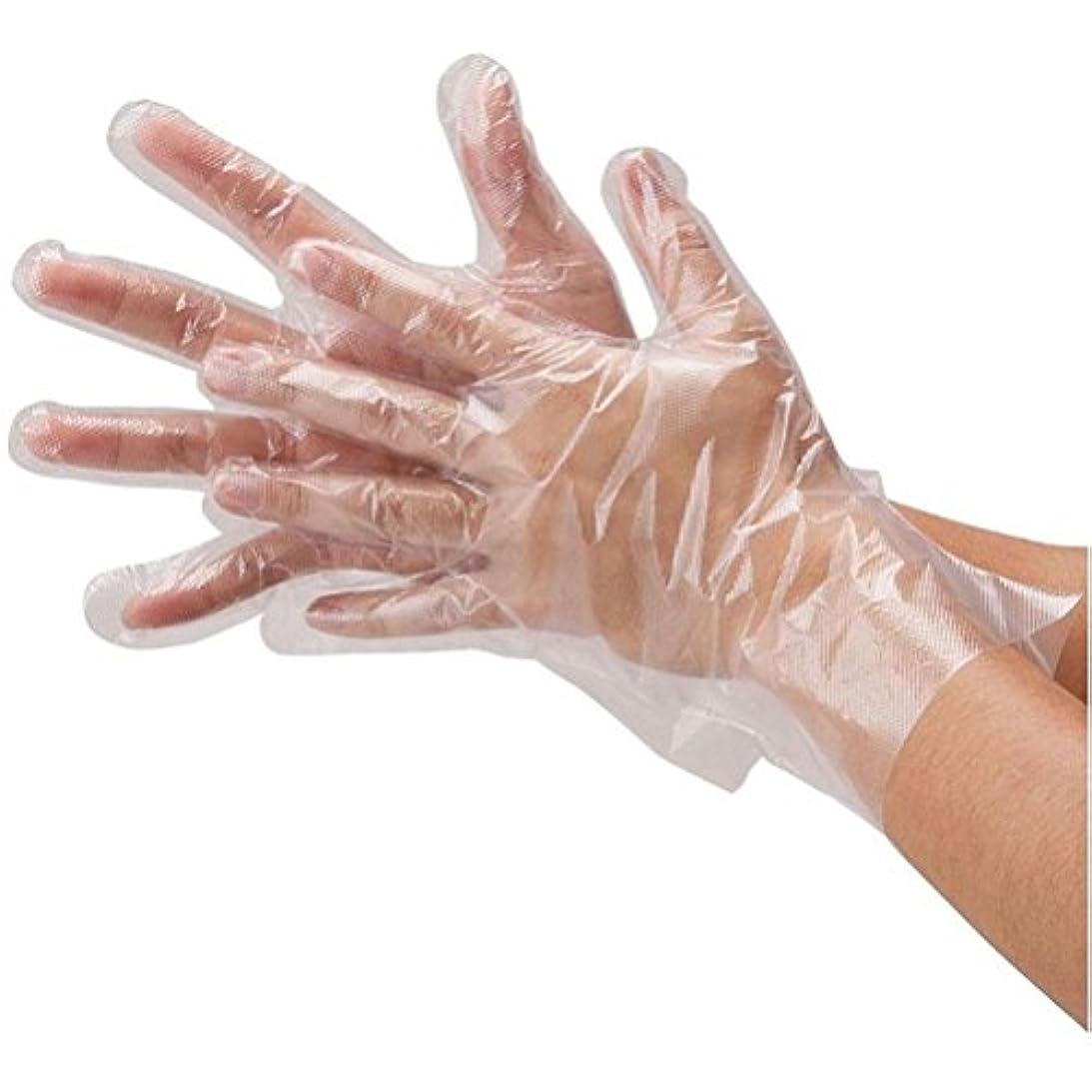 不確実におい対抗ROSENICE 使い捨て ポリエチレン手袋 100ピース(透明)