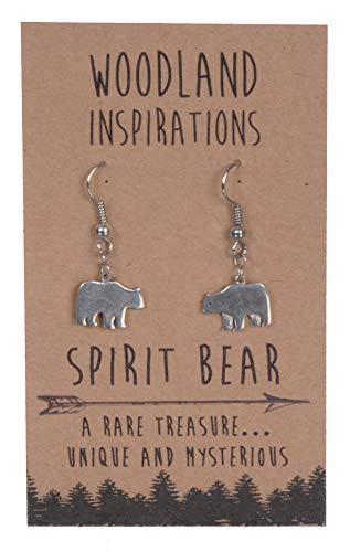 Spirit Bear Earrings - Shag Wear Woodland Inspirations Pewter Earrings (Spirit Bear)