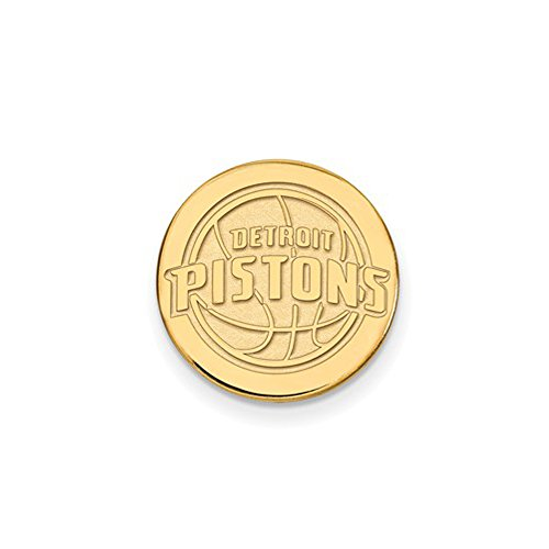 NBA Detroit Pistons Lapel Pin in 14K Yellow Gold by LogoArt