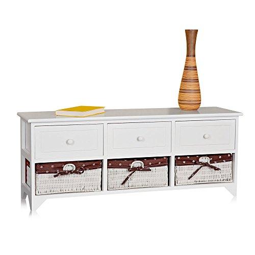 Landhausstil-Kommode-mit-drei-Schubladen-Sideboard-Anrichte-Lowboard-WeiRosa