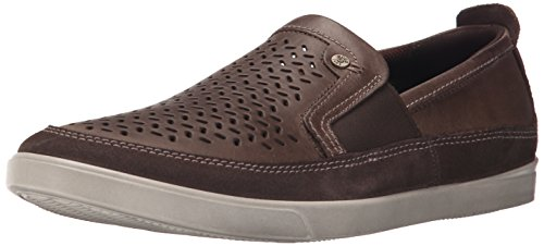 ECCO Men's Collin Perforated Slip On Fashion Sneaker, Dark Clay, 45 EU/11-11.5 M US by ECCO