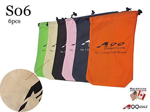 A99 Golf S06 Shoes Bag Nonwoven Fabric Tote Bag/Pouch 6 Pcs(Random Color)