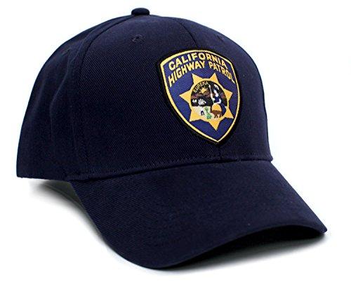 California Highway Patrol Eureka Badge Applique Hat Cap Adult One-Size Multi (Navy)