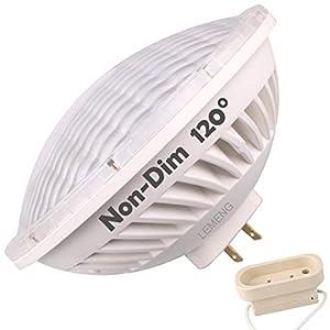 LEMENG Par56 LED Bulb 30W Flood Light Warm White (2700-3000K) WFL 120°Beam Angle, Non-dimmable, GX16D Base, Replace Par-56 300W Halogen Bulb