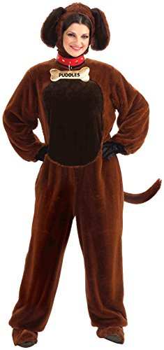 [Forum Novelties Puddles The Puppy Costume, Brown, Standard] (Human Dog Costume)