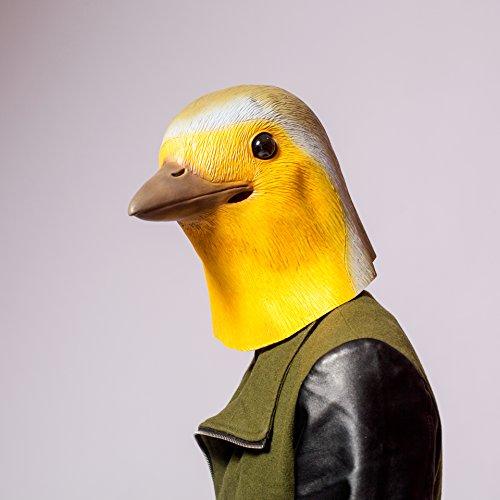 PartyCostume Latex Sounding Robin Bird Mask (Silent)