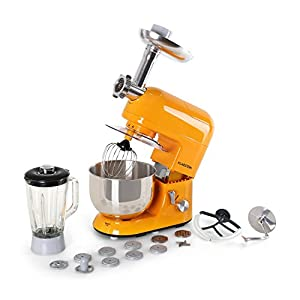 Klarstein Lucia Rossa - robot da cucina , mixer , impastatrice , 1200 W , 5 L , sistema planetario , tritacarne , ganci… 21