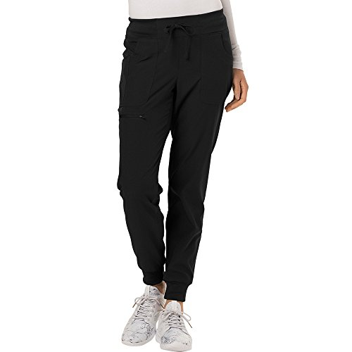 HeartSoul Break On Through Women's The Jogger Low Rise Tapered Leg Scrub Pant Small Black