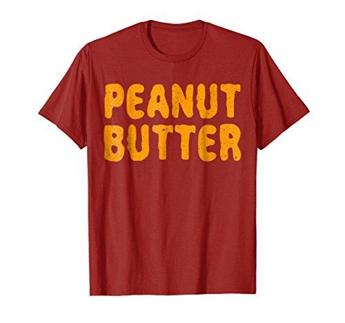 Mens Peanut Butter T-Shirt Matching Halloween Costume XL Cranberry