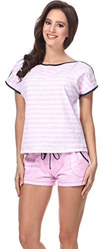 Merry Style Pijama para Mujer Dorothy Rosa/Nevy Azul/Rayas