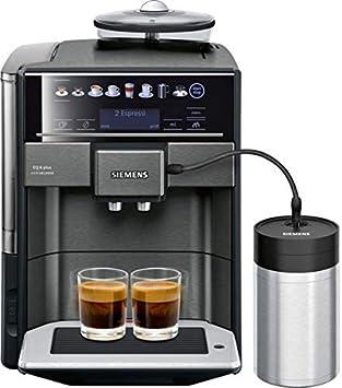 Siemens TE657F09DE Independiente Totalmente automática Máquina espresso 1.7L Negro - Cafetera (Independiente, Máquina