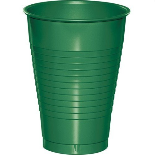 Creative Converting 28112081 Emerald Green Plastic Cups, 16 Oz Solid (12pks Case)