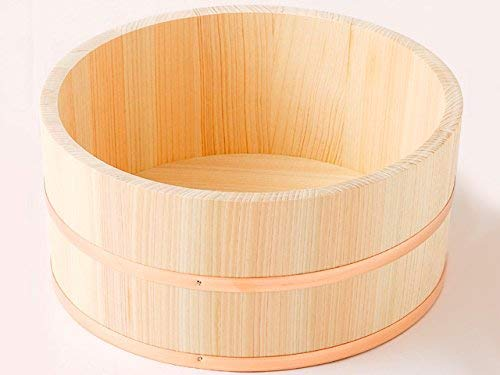 Made in Japan Hinoki Oke Pure Wood Bathtub Bucket DIA 9.45