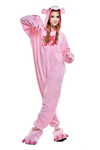 Halloween Adult Pajamas Sleepwear Animal Cosplay Costume (S, Pink Gloomy Bear) (Adult Halloween Costumes Bear /care)