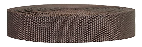 Strapworks Heavyweight Polypropylene Climbing Webbing, Brown, 1