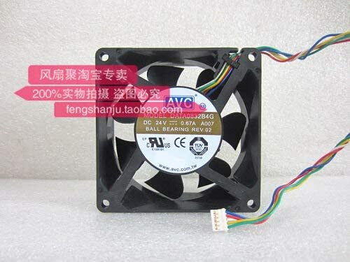 Original AVC DATA0832B4G 8cm 8032 24V0.67A80 80 32mm double ball air volume cooling fan