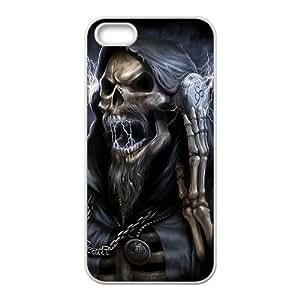 Roaring Skull Monster With Lightning White iPhone 5S case