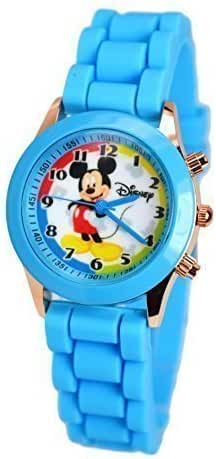 Disney Mickey Mouse Watch W/Fashion Buttons In Can Pen/Glasses Box. Small Analog Display.