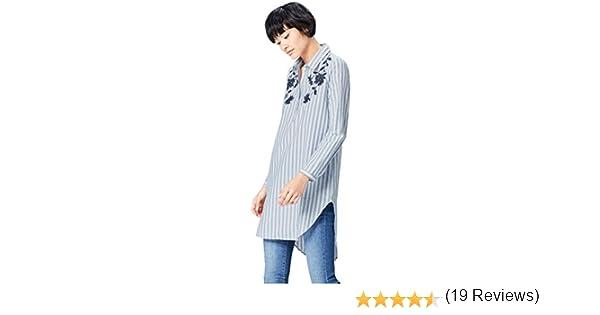Marca Amazon - find. Camisa con Bordados para Mujer: Amazon.es: Ropa y accesorios