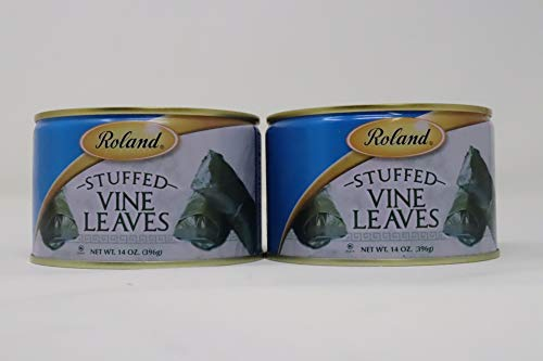 Roland- Stuffed Vine Laeves with Rice and Spices 14 Ounce Can 2 pack with Easy Lid