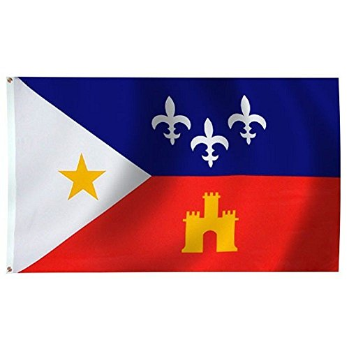 - ALBATROS 3 ft x 5 ft Louisiana Acadiana Premium Quality Flag Cajun Banner Grommets for Home and Parades, Official Party, All Weather Indoors Outdoors