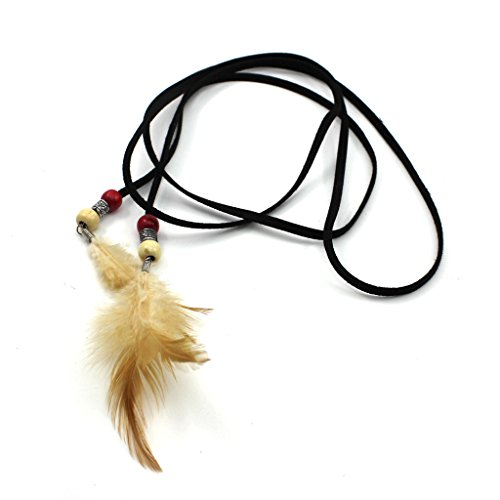 Stylish Bohemian Feather Leather Headband