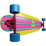 Paradise Stripe Complete Longboard (Yellow/Blue/Pink, 9.5 x 42-Inch)