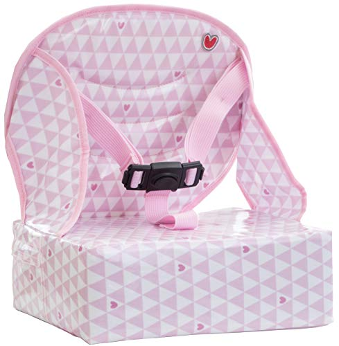 (Baby-To-Love Easy Up, Portable High-Chair Girl Space Saver Feeding Booster Seat for Table (Pink)