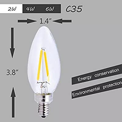 C32 6W LED Candelabra Filament Bulb