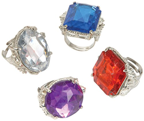 Jumbo Jeweled Rings Assortment (1 (Novelty Rings)