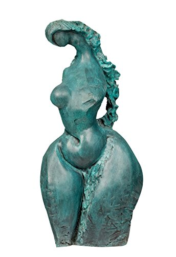 Toperkin Colorful Decor Abstract Female Figurines Fat Nude Lady Bronze Sculptures Statues (Fat Lady Nude)