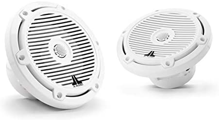 JL AUDIO M3-650X-C-Gw: 6.5-inch (165 mm) Marine Coaxial Audio system, Gloss White Basic Grilles