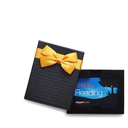 Amazon.com $50 Gift Card in a Black Gift Box (Amazon Kindle Card Design)