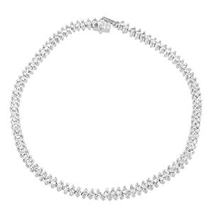 18KT White Gold Round Cut Pavé Diamond Tennis Bracelet (2.00 cttw, H-I Color, SI2-I1 Clarity)