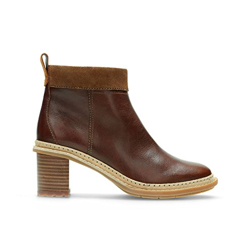 Clarks Trace Shine, Scarpe stringate donna marrone Brown