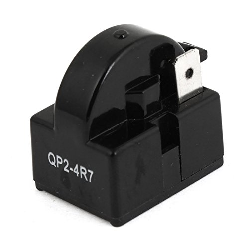 uxcell 4.7 Ohm 1 Pin Refrigerator PTC Starter Relay Black