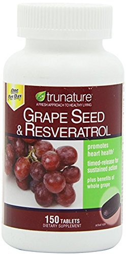 TruNature Grape Seed & Resveratrol - Great Special Value 4 Pack ( 150 Tablets Each ) by TruNature