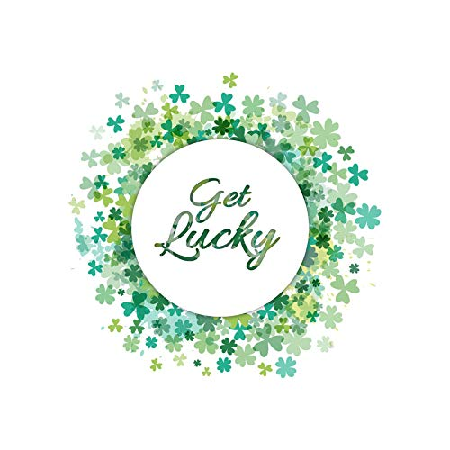 Qifumaer 1 Pcs Wall Stickers Good Luck Letters Wallpaper DIY Vinyl Home Wall Decals Green Stickers Cafe Bedroom Door Living Room Furniture Decoration