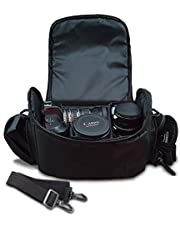 Large Digital Camera / Video Padded Carrying Bag / Case for Nikon D5100, D5200, D5300, D5500, D7000, D7100 Camera & More . . . + Microfiber Cloth