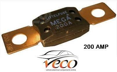 200 Amp Blue Quality Mega Strip Link Fuse Car Van Marine Auto Heavy Duty