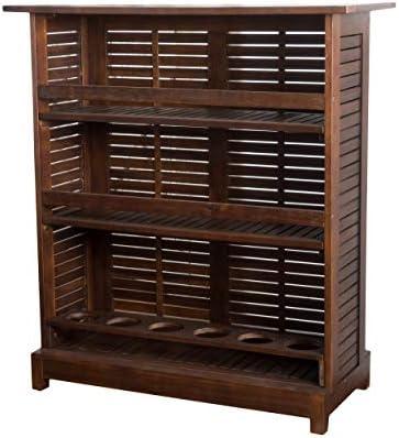 Christopher Knight Home 296526 Jalama Outdoor Patio Furniture Rich Mahogany Acacia Wood Bar