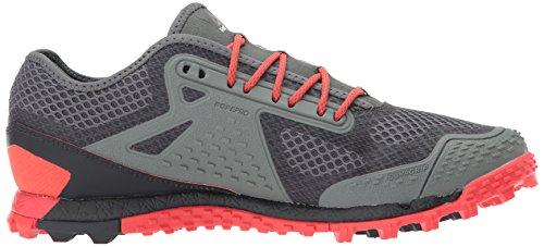Reebok Mens All Terrain Super 3.0 Trail Runner Ironstone / Carbone / Dayglow Re