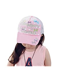 Baseball Cap Child Girls Embroidery Colorful Bowknot Outdoor Spring Summer Sun Hat